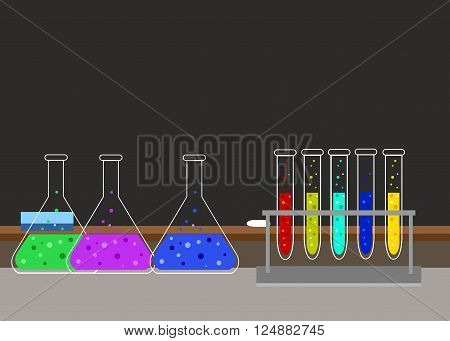 Chemical research laboratory equipment for scientific experimen.