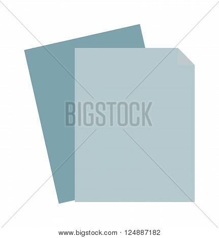 Paper sheet blank and clean paper sheet. Clean paper sheet template texture frame notepad, graphic parchment board notebook. Blank sheet of paper note empty document design business space flat vector.