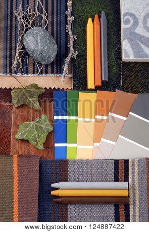 interior color harmonisation in vintge retro style