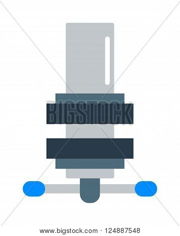 Mechanism icon flat style isolated on white background. Mechanism  flat symbol, Mechanism icon. Cartoon mechanism isolated on white