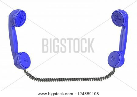 handsets 3D rendering isolated on white background