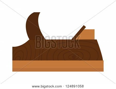 Wood plane tool icons and Wood plane tool illustration. Flat Wood plane tool icons, Wood plane tool isolated on white background.