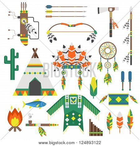 Indians icon temple ornament and indians icons element retro. Indians icons vintage hinduism, indians dreamcatcher ethnic people. Indians icons traditional travel asia temple religion ornament vector.