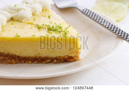 American food - Slice of key lime pie dessert
