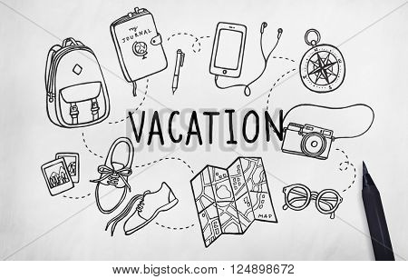 Vacation Wanderlust Travel Trip Concept