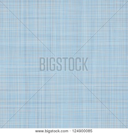 Seamless texture of blue cotton fabric. Vector illustration.