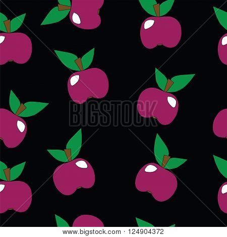Seamless apple pattern.Apple pattern with fruit pink color. Natural apple pattern.