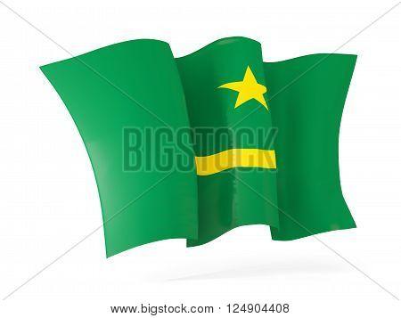 Waving Flag Of Mauritania. 3D Illustration