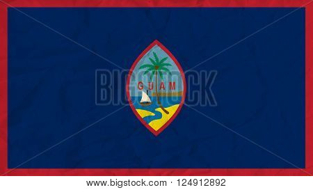 Vector image of the Guam  paper flag