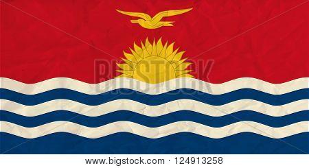 Vector image of the Kiribati  paper flag