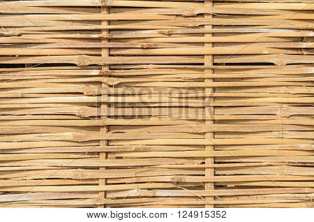 Bamboo weave wall for use as background