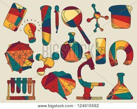 Vector illustration of icon beaker on white background