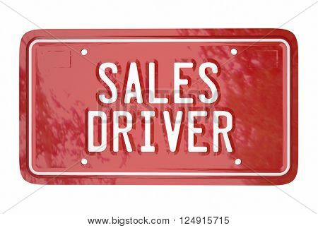 Sales Driver Top Seller Car Vehicle License Plate Words 3d