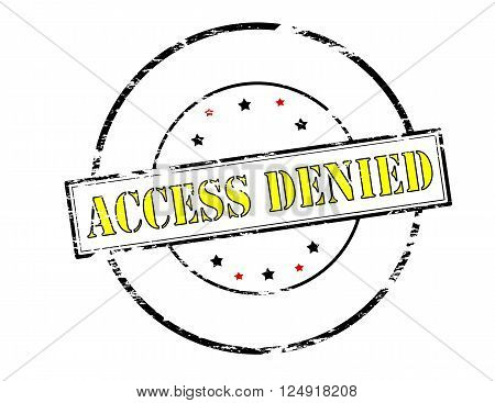 Rubber stamp with text access denied inside vector illustration
