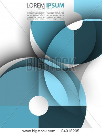 eps10 vector transparent divided round frame abstract design