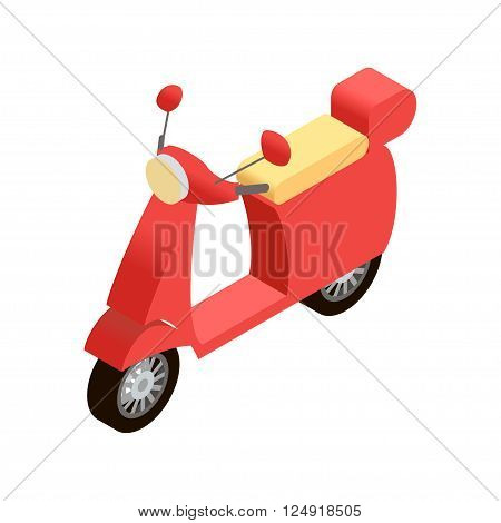 Isometric moped vector illustration for infographics and web design