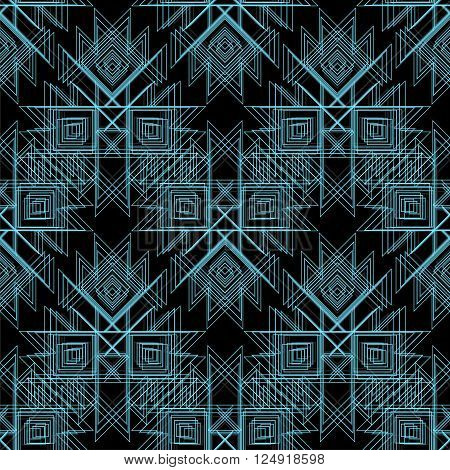 Abstract Vector tribal Seamless Pattern . Line pattern for fabric, paper or web. mystical tribal amulet