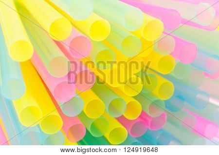 Abstract background from plastic tubules for a cocktail.