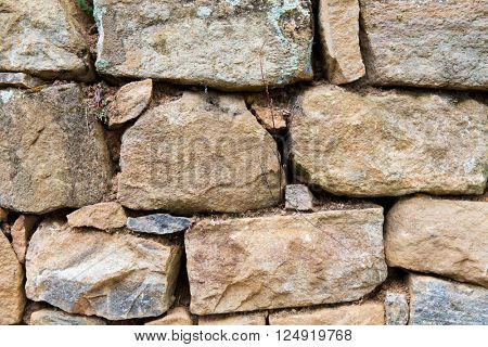architecture, brickwork and exterior concept - close up of old brick wall outdoors