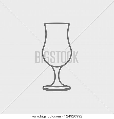 Cocktail pina colada glass. Vector icon design template.