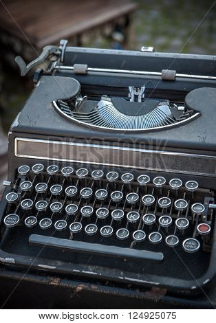 Highly detailed image of vintage type writer ** Note: Shallow depth of field
