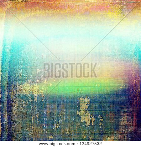 Vintage elegant background, creased grunge backdrop with aged texture and different color patterns: yellow (beige); green; blue; red (orange); purple (violet)