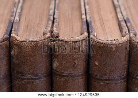 Group Of Old and brown  Antique Books