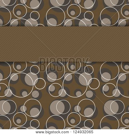 vector geometric background over seamless pattern in mocha colors. Eps10