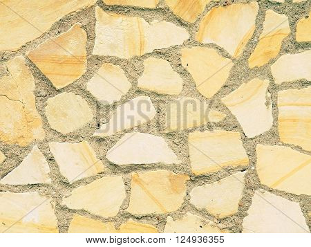 Grunge Mosaic Stone Wall. Nice natural background .