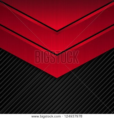 Black and red metallic background, Vector metallic banner. Abstract technology background. EPS10