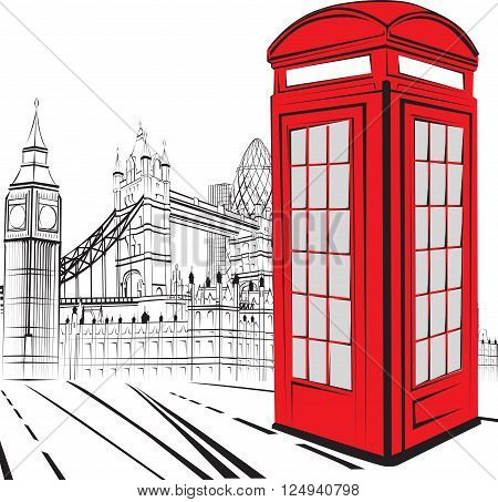 schematic sketch of the sights of London