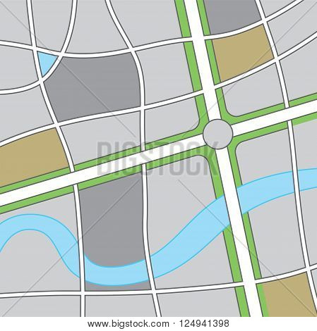 A road and highway map illustration. Vector EPS 10 available.