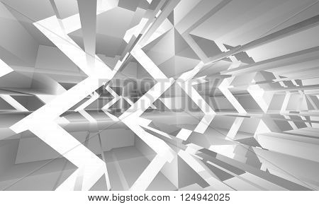 Abstract White Digital Background 3 D Pattern