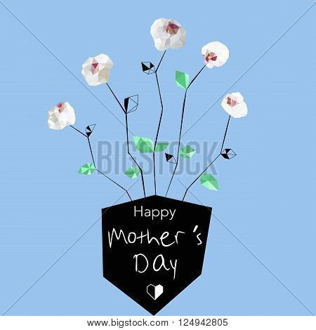 Mothers Day Orchids Low Poly-01.eps