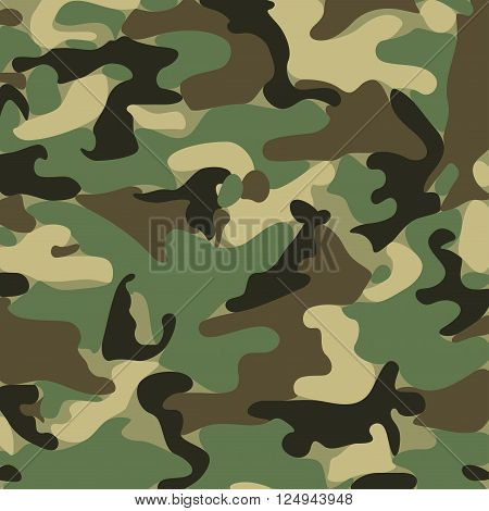 Abstract Military Camouflage Background Made of Splash. Camo Pattern for Army Clothing.