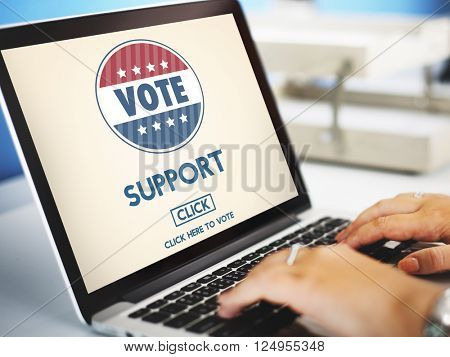 Support Collaboration Assistance Vote Election Concept