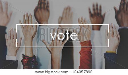 Vote Campaign Democracy Volunteer Concept
