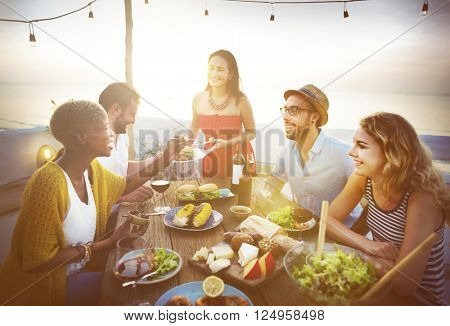 Celebrate Dining Friendship Happiness Nutrition Concept