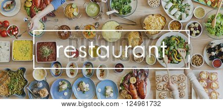 Restaurant Bistro Buffet Chef Cooking Culinary Concept