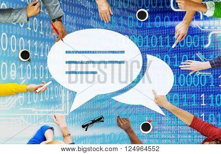 Communication Speech Bubbles Conversation Information Concept
