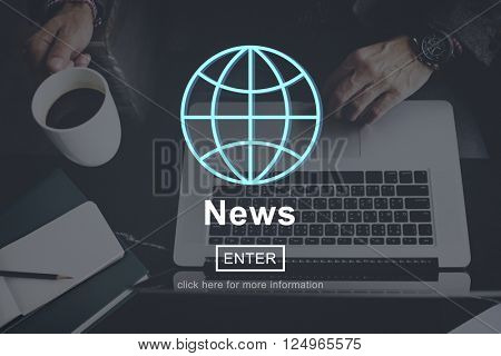 News Newspaper News Feed Report Information Concept