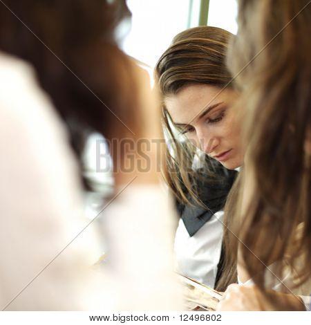 girl on examinination