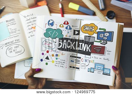 Backlink Hyperlink Networking Internet Online Technology Concept