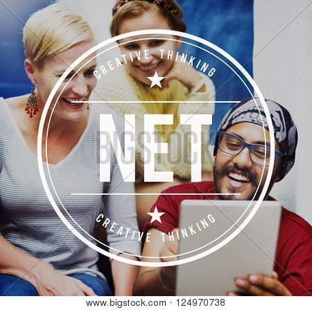 Net Accounting Earning Bookeepping Online Concept