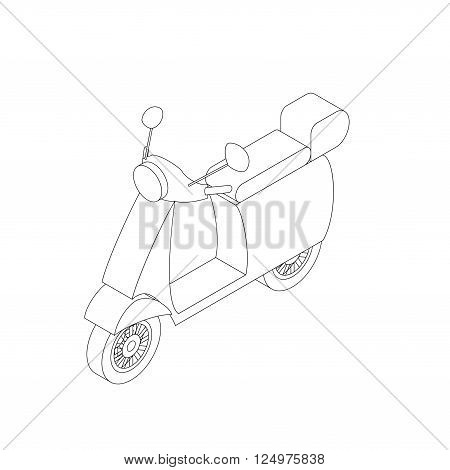 Isometric moped illustration for infographics and web design