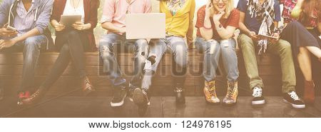 Group of Students Friends Lifestyle Talking Concept