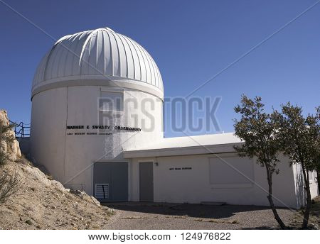 TUCSON, ARIZONA, FEBRUARY 28. Kitt Peak National Observatory on February 28, 2016, near Tucson, Arizona. A view of the Warner & Swasey Observatory at Kitt Peak National Observatory near Tucson Arizona.