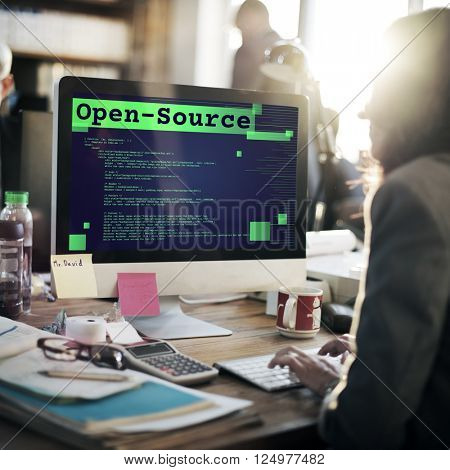 Open-Source Access Coding Source Technology Concept