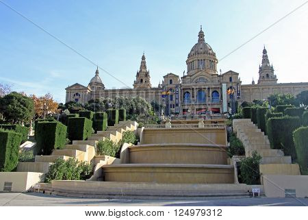 Barcelona, Catalonia, Spain - December 13, 2011: National Museum Of Art (mnac) In Barcelona, Catalon
