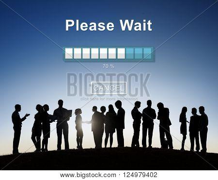 Please Wait Loading Transfer Anticipation Concept